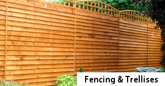 fencing and trellis - wooden garden fencing