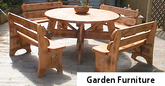 Garden Furniture - outdoor furnature - wooden tables chairs and benches