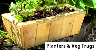 Garden Planters and Veg Trugs - Wooden Planters from Timbertrove