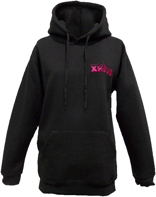 Ladies Hooded Sweatshirt - Black